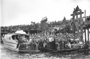 White Rock pier with crowd