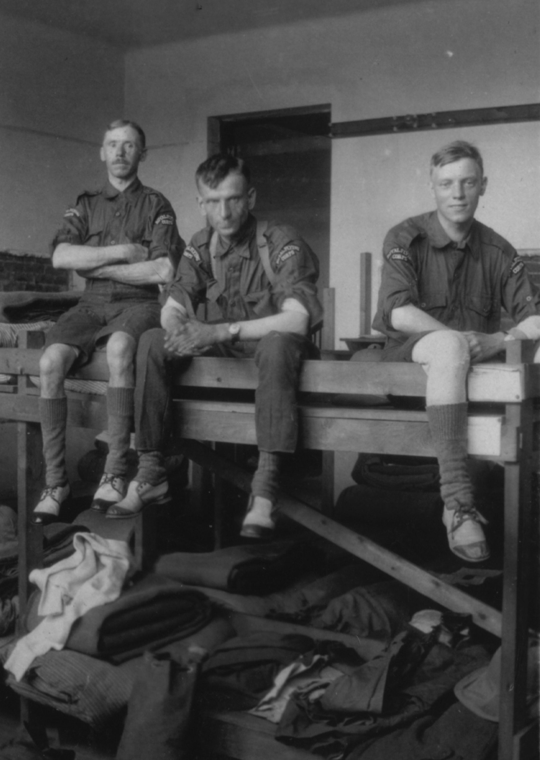 First WW servicemen in barracks