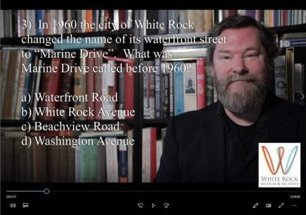Hugh Ellenwood presents the White Rock Museum & Archives History Quiz