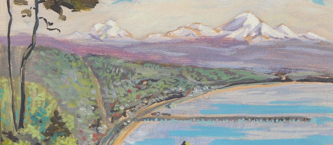 Painted view of Semiahmoo Bay by JP Frank